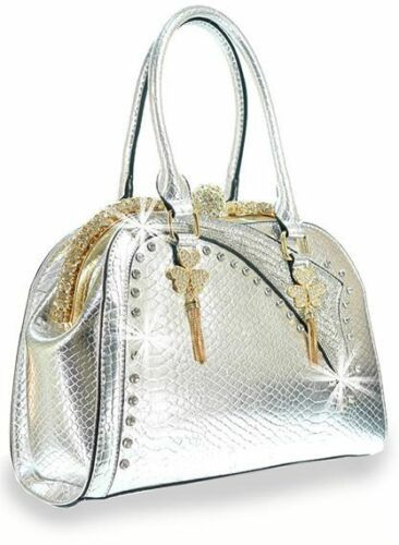 Primary image for GORGEOUS BLING SILVER & GOLD PURSE HANDBAG