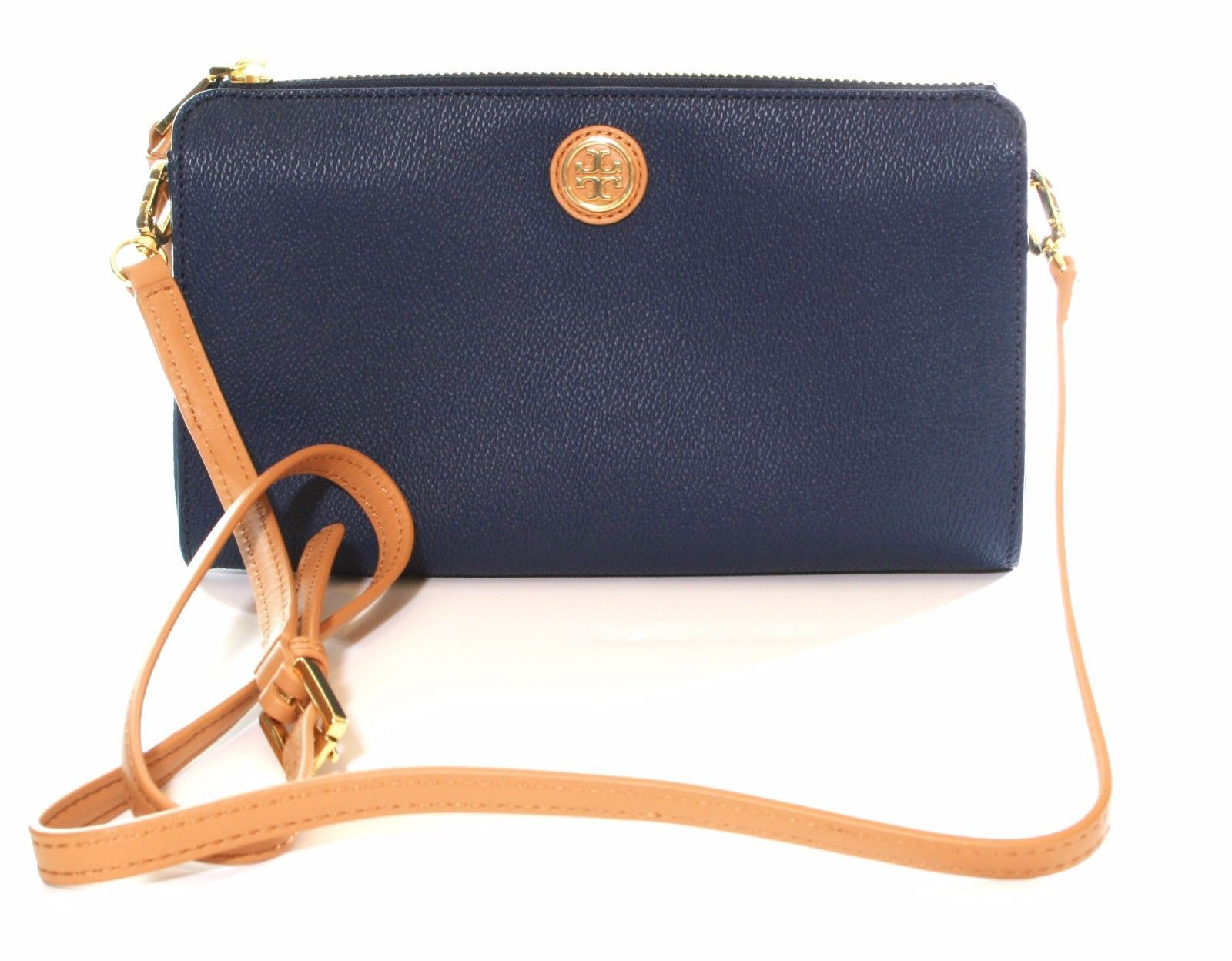 Primary image for Tory Burch Cameron Easy Cross Body Bag Small Handbag Hudson Bay Dark Blue