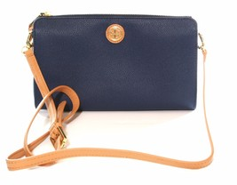 Tory Burch Cameron Easy Cross Body Bag Small Handbag Hudson Bay Dark Blue - $213.66