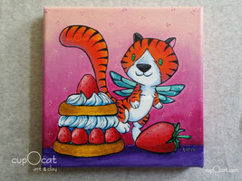 6x6 painting   tiger fairy  5  thumb200