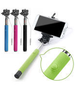Extendable Wired Selfie Stick Monopod With Shutter Button - $420,70 MXN