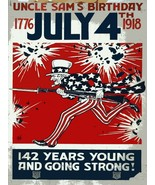 Decoration Poster.Home interior design print.Wall art.July 4 Uncle Sam.7058 - $10.89+