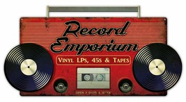 Record Emporium Shop, Records, Vinyls, 45s, Tapes, Music Plasma Cut Meta... - $39.95