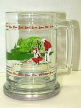 Princess House Heavy Crystal Glass Golf Mug Cup Beer Tankard Ball Club 18 Hole - $14.85