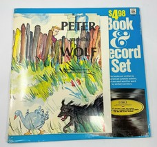 1974 Peter And The Wolf Book & Vinyl Record Set Childrens Records Of Ame... - £26.43 GBP