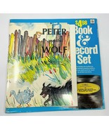 1974 Peter And The Wolf Book & Vinyl Record Set Childrens Records Of Ame... - $37.39