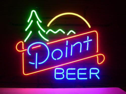 """New Point Beer Lager Neon Light Sign 24""""x20"""""""