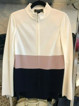 ST. JOHN Black Label White, Mauve & Navy Jacket w/ Navy Skirt Suit Sz 4 ... - $444.41