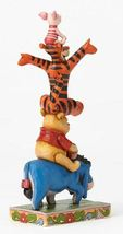 """8"""" Built by Friendship """" Eeyore, Pooh, Tigger & Piglet Stacked Jim Shore Designs image 4"""