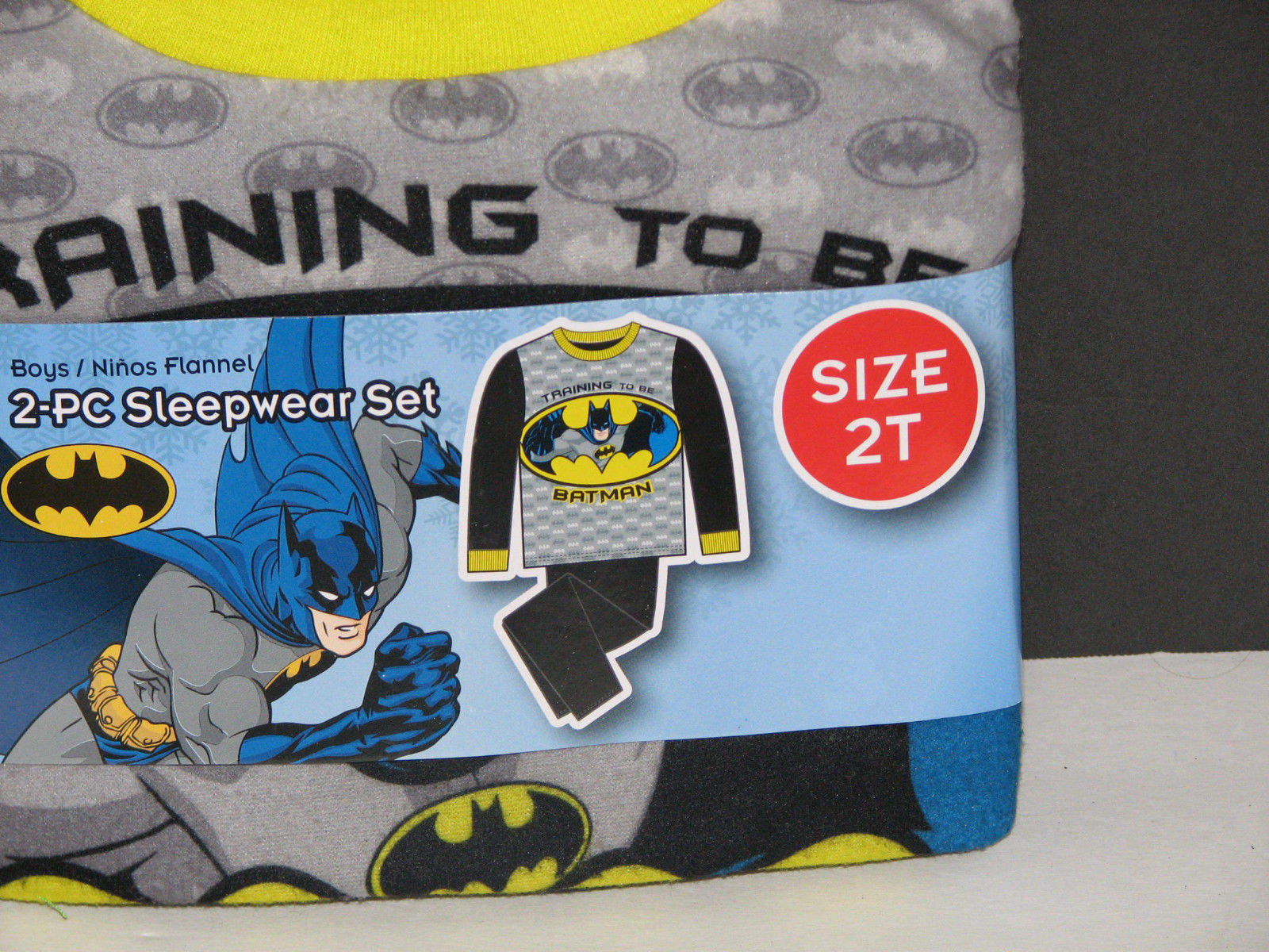 Boys 2-Piece Sleepwear Pajama Set Batman Size 2T NEW
