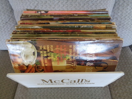 Vintage McCall's 1972 Cookbook Collection and Holder 17 Total Books   - $45.00