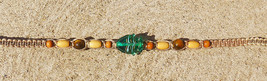 Glass Fish Hemp Necklace  Handmade Jewelry  Hippie  Beach Girls Choker   - $16.99