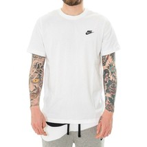 T-SHIRT UOMO NIKE SPORTSWEAR CLUB AR4997.101 CREWNECK CHEST LOGO MAN TRI... - $28.82