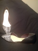 Bc Born In California Vegan Black & White Two Piece Pointy Toe Flats Size 10M - $26.72