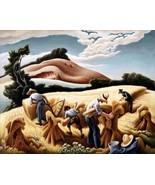 Cradling Wheat Painting by Thomas Hart Benton Art Reproduction - $32.99+