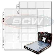 100 BCW Pro Poly 20 Pocket Pages for 2x2 Coin Flips or Photo Slide - $29.99