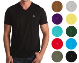 Lacoste Men's Premium Pima Cotton Sport Athletic Jersey V-Neck Shirt T-Shirt