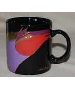 Moroccan Horses Black Mug Laurel Burch Signed Japan - $9.85