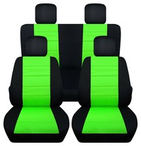 Front and Rear car seat covers Fits Jeep wrangler JL 2018-2020  black-lime green - $159.99