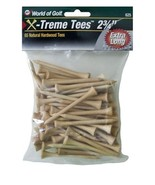 Golf Tees 2 3/4 Inch Extreme Step Tees Pack of 65 Durable Natural Hardwo... - $9.14