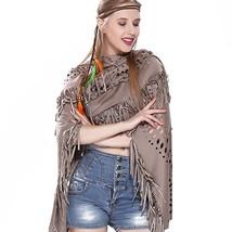 Women Vintage Tassel Shawls Fashion Ponchos Foulard Capes Women's Scarf ... - $32.18
