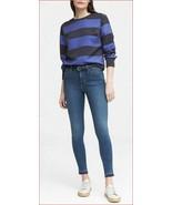 new BANANA REPUBLIC women top blouse SPR18 blue black XS MSRP $78 - $29.99
