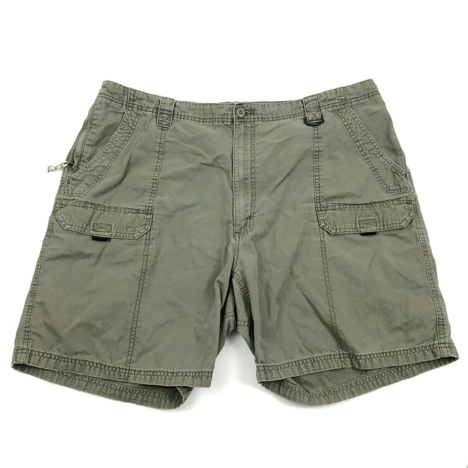 VINTAGE Mens Wrangler Cargo Shorts Size 44 Olive CANVAS DENIM D-Ring Reinforced - $13.15