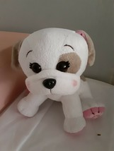 Cabbage Patch Kids Adoptimals Plush Pet White Brown Dog Puppy Sound Stuffed - $9.85