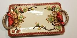 Geo Z Lefton 2001 Platter Tray Plate Cardinal Holiday - $50.00