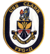 "5"" NAVY USS FFG-11 CLARK FRIGATE EMBROIDERED PATCH - $23.74"