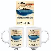 Travel NYK - 1936 - Japan - N Y K Line - Travel Poster Mug - $23.99+