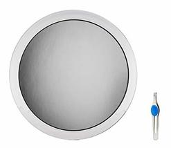 """DBTech Large 10"""" Suction Cup 8X Magnifying Mirror with Precision Tweezers image 2"""
