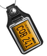 Christine Horror Movie Car Tag CQB 241 Design Faux Leather Key Ring  - $10.84