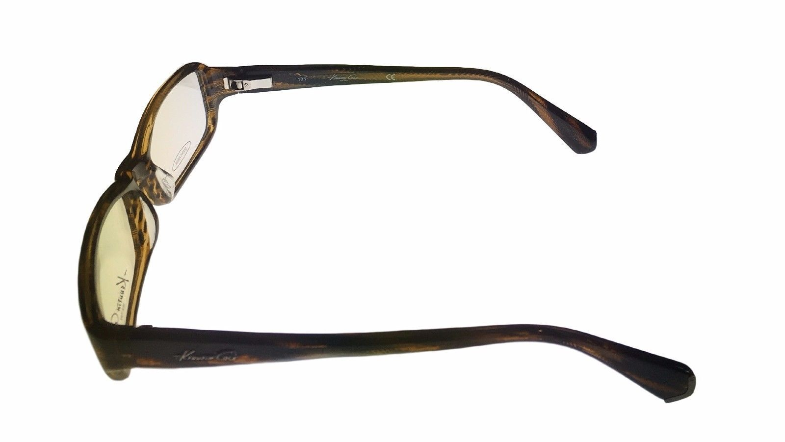 Kenneth Cole New York Mens Ophthalmic Frame Tortoise Plastic Rectangle KC191 50