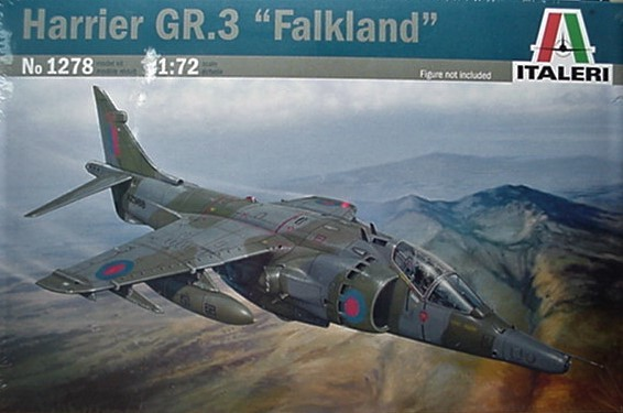 "Italeri 1/72 Harrier GR.3 ""Falkland""  kit 1278"