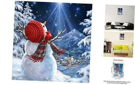 DIY 5D Christmas Diamond Painting Kits, Full Drill Christmas Snowman Rhi... - $15.95