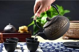 900ml Cast Iron Teapot Uncoated Iron Teaset Iron Chinese Tea Coffee Kett... - $56.15