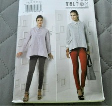 Pattern Vogue Designer Shirt & Pants March Tilton V9174 Uncut Factory Fo... - $14.35