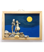 Pebble Painting, Pebble Art, Wall Painting, Wall Art, Family Painting  - $39.50
