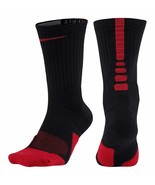Nike Unisex Elite 1.5 Crew Basketball Sock Black/Red Size Small SX5593-010 - $15.99