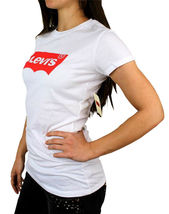 Levi's Women's Premium Classic Graphic Cotton T-Shirt Shirt Tee White size XL image 3