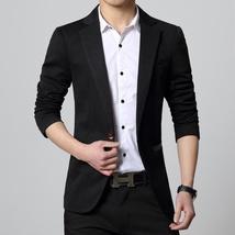 New Fashion Autumn and Winter Men Black Suit Jacket Men's Casual Business Suit J image 7