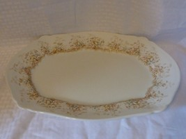 "vintage Johnson Bros Royal semi porcelain floral pattern serving 16""oval PLATTER - $14.99"