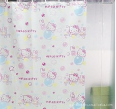 The new pink Hello kitty cat Japanese PVC waterproof  thickening shower curtain  - $29.63