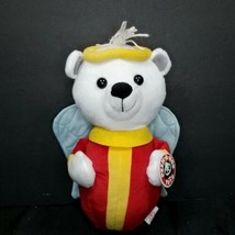 "Peek a Boo Toys White Plush Angel Teddy Bear Blue Wings Red Yellow Halo 11"" - $15.83"