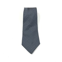 Tommy Hilfiger Vintage Neck Tie Blue Yellow Check Plaid 100% Silk - $20.68