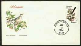 Arkansas-Apple Blossom & Mockingbird, HF-Sealed Flap **ANY 4=FREE SHIPPI... - $1.00