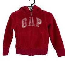 Gap Kids Fleece Hoodie Jacket Logo Sequined RED Size S (6-7) - $32.21