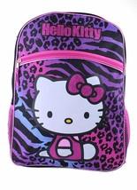 Hello Kitty Animal Imprimé École Sac à Dos Zèbre Léopard Violet Bleu Rose Noir image 1