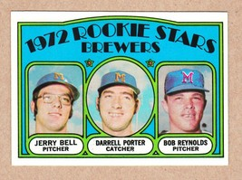 1972 Topps #162 Brewers Rookies Porter Reynolds Bell NM Near Mint cond. - $4.49